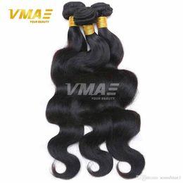 Toptan satış Bakire Brezilyalı Saç Vücut Dalga 3 Demetleri uzantıları Çok Ipeksi Saç Atkı İşlenmemiş İnsan Saç Hiçbir Koku Yumuşak Pürüzsüz VMAE Ürünleri