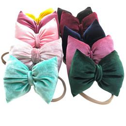 2052817cf24 Newborn Baby Headbands Big Bow Elastic Headband Children Hair Accessories  Kids Cute Hairbands for Girls Nylon Bow Headwear Headdress KHA722