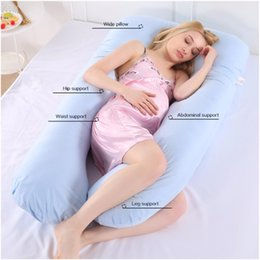 bedding side 2019 - 70x130cm Pregnant Pillow Women Sleeping Support Body Coon Pillowcase U Shape Maternity Pillows Pregnancy Side Sleepers B