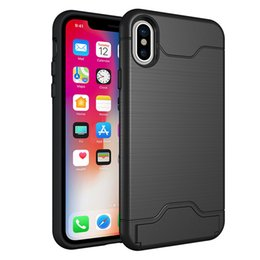 Hot Sales Iphone Case Australia - hot sale cell phone case card holder wallet back cover anti-shock tpu pc hybrid case for iphone X 8 plus 7 plus