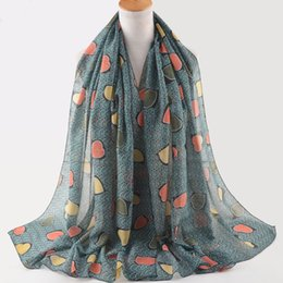 Cotton Viscose Scarves Australia - Women 2019,love print scarf,british style,Muslim hijab,head scarf,shawls and scarves,cotton viscose hijab,shawls wrap,women cape