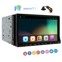 touch screen gps system UK - Double din GPS Navigation Android 7.1 system Stereo Octa-core 32G ROM Double din Car DVD Player 7'' Sliding Capacitive Touchscreen Car Radio