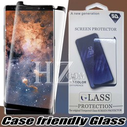 Perfect Packages Canada - For Samsung S8 S9 Plus Screen Protector Full Cover 3D Curved Tempered Glass Screen Protector Perfect For Galaxy note 9 8 s7 s6 With Package