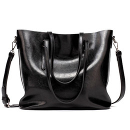 StyliSh cell phoneS online shopping - New Designer Handbags Top Quality Purses PU Fashion Famous Brand Women Casual Tote Bag Bucket Retro Oil Stylish Travel Luggages