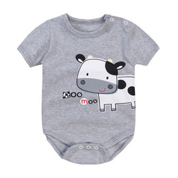 Bonito Leite Gado Vaca Bodysuits Bebê Cinza Moda Bebê Meninos Roupas 100% Algodão Leiteria Milch Recém-nascido Macacão Babywear 0-2 Ano