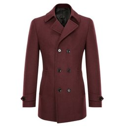 Buttons For Garments UK - MRMT 2018 Brand Men s Jackets Fashion Leisure  Double-breasted Overcoat 701797155bd7