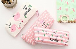 $enCountryForm.capitalKeyWord Canada - Cute Canvas Pen Pencil Bag - Pink Flamingo Storage Bag Stationery School Office Supply Kids Gift Pouch Kids Gift - Pencil Box