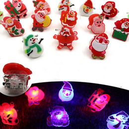 Glow Party Decorations Australia - Cartoon Brooches Christmas Tree LED Glowing Pins Plastic Santa Claus Brooches Badge Christmas Snow Decoration Gift