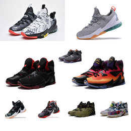 61177ce0b9e0 Mens what the lebron 13 low basketball shoes LMTD MVP Floral Floral Black  Red Green Glow Grey Camo Doernbecher New sneakers boots with box