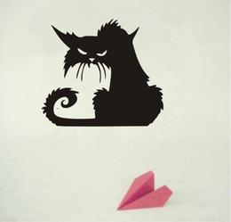 $enCountryForm.capitalKeyWord UK - New Halloween Scary Spooky Black Cat Wall Glass Sticker Halloween Decoration Decals 2 Size Home Stickers Decorate