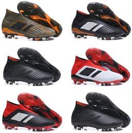 Kid Youth Predator 18+ 18.1 FG Soccer Cleats Chaussures De Football Boots  Mens High Top Soccer Shoes Predator 18 Cheap New Hot 973ce8e6d