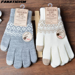 $enCountryForm.capitalKeyWord NZ - Fanaticism Knitted Cashmere Screen Touch Gloves Unisex Women Men Winter Mittens Guantes For ipad Tablet PC Touch Screen Gloves