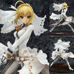 $enCountryForm.capitalKeyWord Canada - Action Figure Fate stay Night Saber White Dress Cartoon Doll PVC 22cm Box-packed Japanese Figurine World Anime Toy 170730