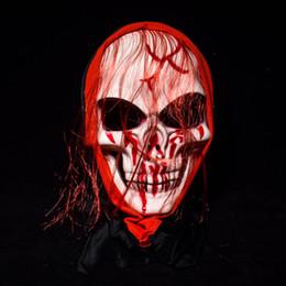 Back Hair Men Australia - Long hair Ghost Masks bloody Masquerade Full Face Masks Halloween Costumes Party Gift horrifying volto holiday face decoration for men women