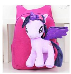 $enCountryForm.capitalKeyWord UK - Anime Backpack Cartoon Lovely Little Horse Kindergarten School Bags 3D Poni Unicorn Doll Plush Backpack Toys for Children Gift