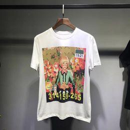 Discount oil paintings italy - Men T-shirts Luxury Europe Summer Italy Artist Collaboration Luxury Ignasi Monreal hallucination Girls Oil Painting Tee