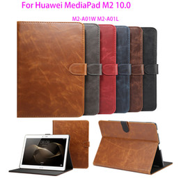 Discount huawei m2 tablet - Smart protective Leather Cover Case For Huawei MediaPad M2 10.0 M2-A01W M2-A01L 10.1 inch tablet case Luxury Crazy Horse