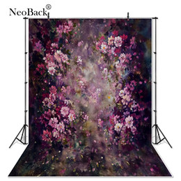 backdrop fantasy 2019 - NeoBack thin vinyl Newborn Baby Spring Floral Photography Backdrop fantasy floral Customs Photo Studio backgrounds Prop