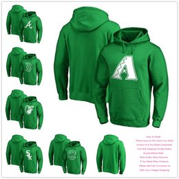 Baseball Arizona Canada - Men's 2018 Arizona Atlanta Baltimore Boston Chicago Baseball Branded St. Patrick's Day Kelly Green Spring Pullover Hoodies, Size S-4XL.