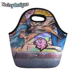 lunch bags for kids 2019 - Leisure Bag Lunch Bags Street Graffiti PatternFood Picnic Kids Cooler Lunch Box Bag Tote For Girls & Boys discount lunch