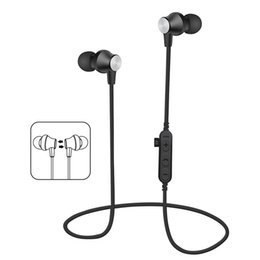 Chinese  MS-T2 Magnetic Bluetooth Headphones Wireless Earphones Running Headset With Mic MP3 Earbud Bass Stereo BT 4.2 For iphone samsung 2018 manufacturers