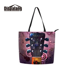 Clear Bag Clothes Australia - Dispalang Many Patterns Customized Musical Instruments Printing on Shopper Polyester Cotton Shopping Bags for Clothing Packing
