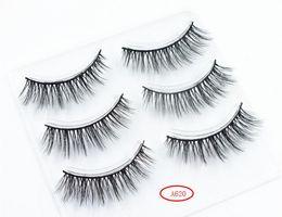 $enCountryForm.capitalKeyWord Australia - New Arrival 24 style 3 Pairs 3D Natural Stitch Cross Messy False Eyelashes long makeup 3D Lashes Fake Eye Lashes Extension Make Up Beauty