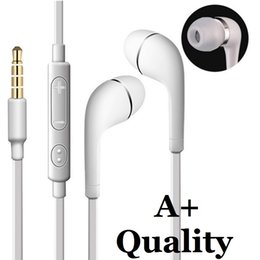 flat wire headset lg NZ - A+ J5 Stereo Earphone 3.5mm In-Ear flat noodle Headphones Headset with Mic and Remote Control for Samsung Galaxy S3 S4 S5 S6 Note 2 3 4