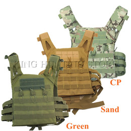 green army tactical vest men NZ - Good Quality JPC Tactical Vest Simplified Version Tactical Adjustable Vest Army Combat Gear Hunting
