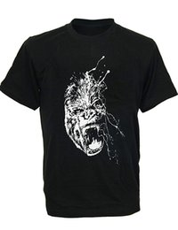 China SODAtees graphic art Gorilla Ink Splash ape Men's T-Shirt Mens 2018 fashionable Brand 100%cotton Comfortable t shirt cheap art gorillas suppliers
