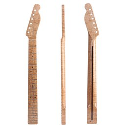 China 21 Frets Tiger Flame Maple Guitar Neck For Electric Guitar Parts Back Inlaid suppliers