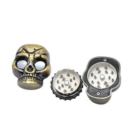 China Newest Skull Zinc Alloy Herb Grinder Spice Miller Crusher Diameter 50mm High Quality Beautiful Color Unique Design DHL Free cheap newest design alloy suppliers