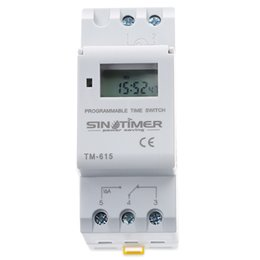 electronics relays 2018 - SINOTIMER Electronic Weekly 7 Days Programmable Digital TIME SWITCH Relay Timer Control AC 220V 110V 24V 12V 16A Din Rai