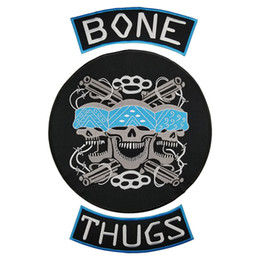 cd5f5eb7 BONE THUGS MC Motorcycle club Patch Cool Punk MC Embroidered Full Back Large  Pattern For Rocker Vest Patches for clothing Free Shipping