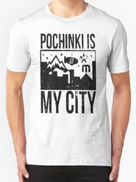 white city shorts NZ - Pochinki Is My City Men's T Shirt White Short Sleeves Cotton T-shirt Fashion 100% Cotton Geek Family Top Tee Shirt