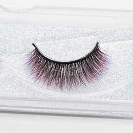 create hair NZ - Seashine create your own 3d silk lashes 3d colorful silk eyelashes false fancy color lashes free shipping C6