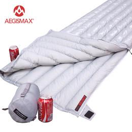 $enCountryForm.capitalKeyWord Australia - AEGISMAX Lengthened Ultralight Envelope type White Goose Down Camping Hiking Outdoor Sleeping Bags 200X82cm