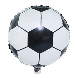 football decorations for party UK - Creative Cartoon Football Bear Frog And Duck Balloons Foil Balloon for Decoration Kids Birthday Christmas Party Supplies Factory Wholesale