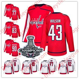 91457fa4ceb Washington Capitals 2018 Champions Patch  43 Tom Wilson 79 Nathan Walker 83  Jay Beagle 91 Tyler Graovac White Red Stitched Hockey Jerseys