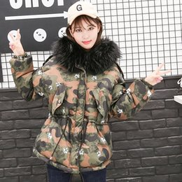 $enCountryForm.capitalKeyWord Canada - Women Fashion Warm Cotton Padded Jacket Fur Collar Frock Coat Big Camouflage In The Long Winter Leisure Cotton Loose Thickened Down