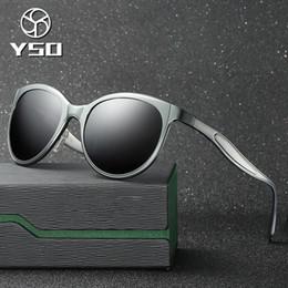 2828ba4bec YSO Sunglasses Men Women Polarized UV400 Aluminium Magnesium Frame TAC Lens  Sun Glasses Driving Glasses Cat Eye Accessories 8605