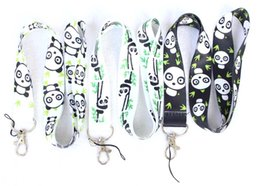 $enCountryForm.capitalKeyWord Australia - Free Shipping 150pcs chinaese panda Lanyards Neck Strap Keys Camera ID Card Lanyard Mobile Phone Neck Straps