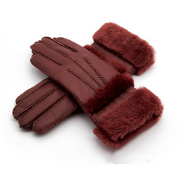 mitten leather UK - 2018 New Women High Quality Leather Gloves Women Wool Gloves Free Shipping Quality Assurance - lengthened