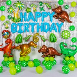 50pcs New Large Dinosaur Foil Balloons Boys Birthday Party Decorations Baloon Kids 1st Gift Photo Booth Air Balls