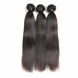 Cheap 18 Inch Hair Extensions NZ - Brazilian Straight Virgin Hair Bundles Straight Cheap Remy Human Hair Extensions Unprocessed Brazilian Virgin Hair Bundles 3 4 Bundles Deals