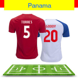 Wholesale New World Cup panama soccer jerseys PANama Roberto Nurse Aníbal Godoy Felipe Baloy BROWN Red White Home Away football Shirts uniforms