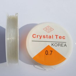 $enCountryForm.capitalKeyWord NZ - 10 Rolls Crystal Thread, Bead Craft Crystal, Stretchy String Thread, Clear, Thickness 0.7mm; 12m roll
