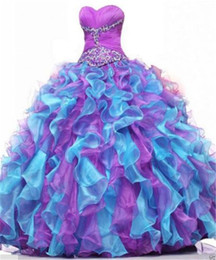 quinceanera dresses UK - 2020 New Hot Ball Gown Quinceanera Dresses Crystals For 15 Years Sweet 16 Plus Size Pageant Prom Party Gown QC1058