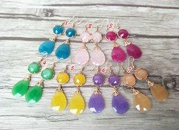 $enCountryForm.capitalKeyWord Australia - Fashion Water Drop Shape opal Crystal Earrings,Dangle Earrings Gem stone charms women Jewelry Druzy ER311