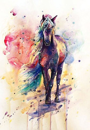 $enCountryForm.capitalKeyWord NZ - Framed Horse Pure Handpainted Abstract Animal Art Oil Painting On High Quality Canvas For Wall Decor Multi Sizes Free Shipping,A095